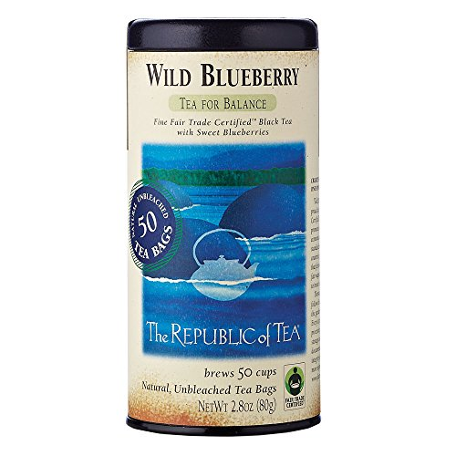 The Republic of Tea, Wild Blueberry Black Tea, - Leaf Tea Blueberry Bags