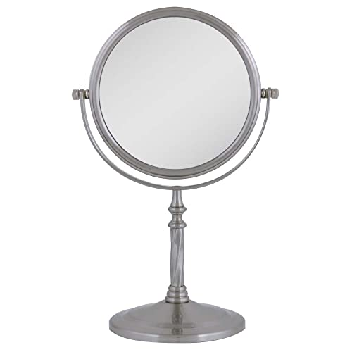 Zadro Two-Sided Vanity Swivel Mirror, Satin Nickel