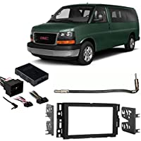 Fits Chevy Express 13-14 w/Factory NAV Double DIN Harness Radio Dash Kit