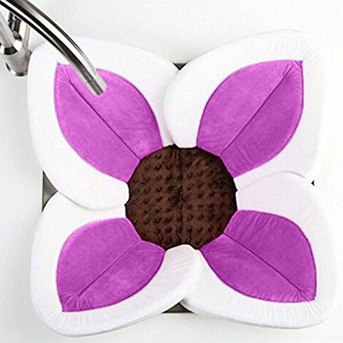 Badewanne Baby,Hunpta Blühende Bad-Blumen-Badewanne für Baby-blühende Wanne Bad für Baby Säugling Lotus Lila