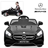 Official Licensed Mercedes Benz Ride On Car with Remote Control for Kids | 12V Power Battery AMG S63 Kid Car to Drive with 2.4G Radio Parental Control Black