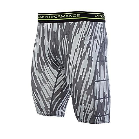 Mizuno Youth Baseball Breaker Padded Sliding Shorts, Grey, Small