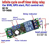 5x10 module - Qianson DC 5V 12V 24V Infinite Cycle Delay Timer Time Relay ON OFF Switch Loop Module 10~1400 Seconds (DC 5V)