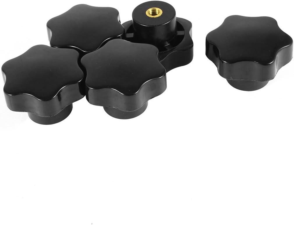 sourcingmap/® Negro Dorado M8 X 50mm Dia Estrella Cabeza Mando De Sujeci/ón De Piezas De Reparaci/ón 5Pcs