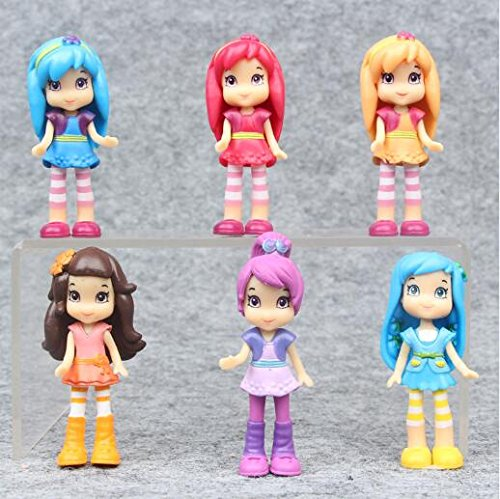 6pcs/Set 5.5-7 cm Strawberry Shortcake Toy Figure Set(Randomly Sent) (Mini Strawberry Shortcake Toys)