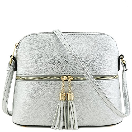 Tassel Zipper Pocket Crossbody Bag ()