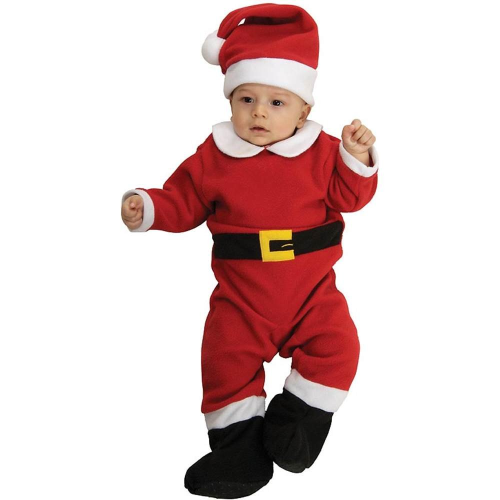 40c80376ee36 Amazon.com  Santa Claus (Fleece) Romper Child Christmas Costume Size ...