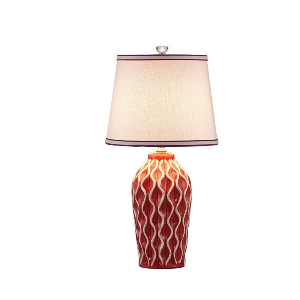 XiuXiu Nordic Modern Minimalistischen Keramik Stoff Tischlampe Nachttischlampe Wohnzimmer Studie Büro Schlafzimmer Dekoration Tischlampe (Farbe   Button switch-M) B07HMVGK6W | Langfristiger Ruf