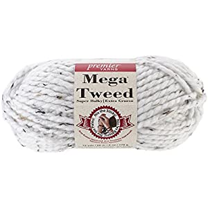 Premier Yarns Mega Tweed Yarn, White