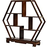 NWFashion Chinese Wooden Assemble Display Stand Home&Office Square Decoration Curio Cabinets Shelf (1)