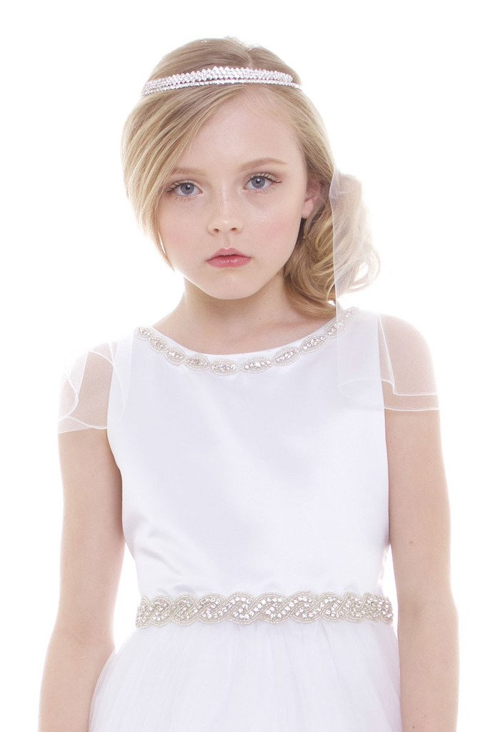 iGirlDress Girls First Communion Rhinestone Crown Veils 1119 by iGirldress