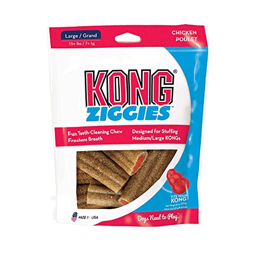 Ziggies 8 oz Pkg Large (Treats Dog Ziggies Kong)