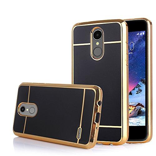 TabPow LG Stylo 3 Case Electroplate Slim Glossy Finish, Drop Protection, Shiny Luxury Case for LG Stylo 3/ LG Stylo 3 Plus - Black - Case Style 3