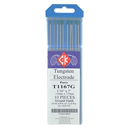 EWG TIG Welding Tungsten Electrodes Blue Demon Multi-Mix 3/32 x 7 x 10 pack Pink