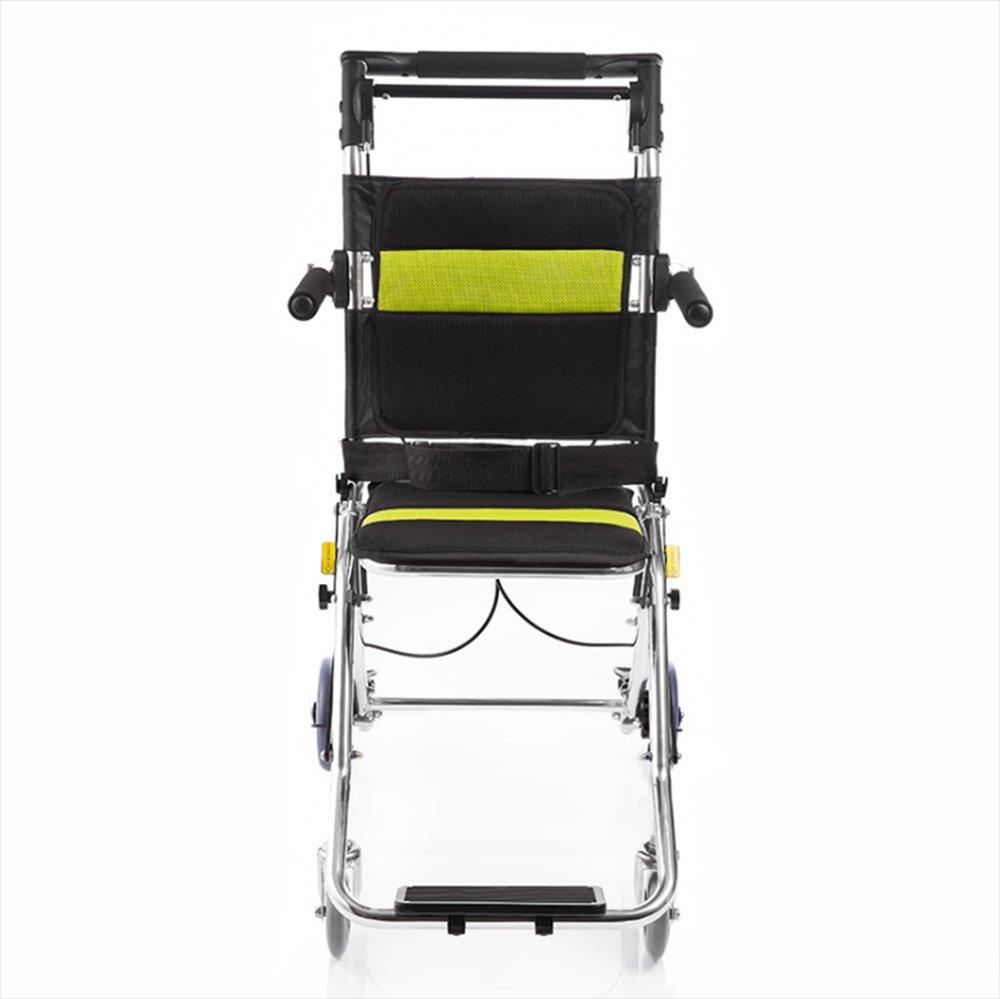 車椅子 折りたたみ式ポータブル車いす 車イス アルミニウム合金通気性のパッド付きポータブル 多機能モビリティの低下した障害を持つ人々に適し B07F5KBR5T