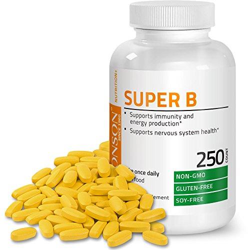 (Bronson Vitamin B Complex (Vitamin B1, B2, B3, B6, B9 - Folic Acid, B12), 250 Tablets)