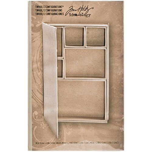 Mini Configurations Shadow Box Book by Tim Holtz Idea-ology, 6 x 9 x 1.25 Inches, 6 Compartments, -