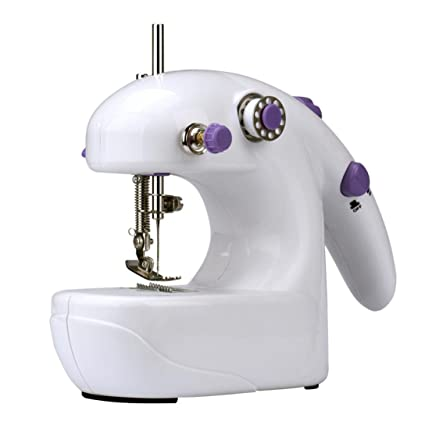 dzt1968portable Mini máquina de coser eléctrica de mano escritorio casa hogar costura