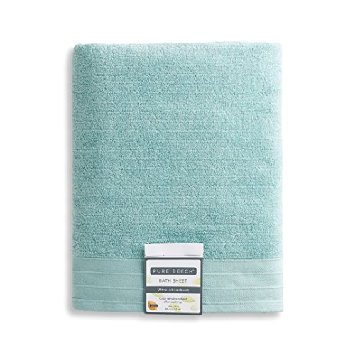 - PURE PLANT HOME Pure Beech 3-Piece Bath Towel Set - Cotton Modal Blend - Hotel Quality, Bright, Super Soft and Highly Absorbent - Aquamarine