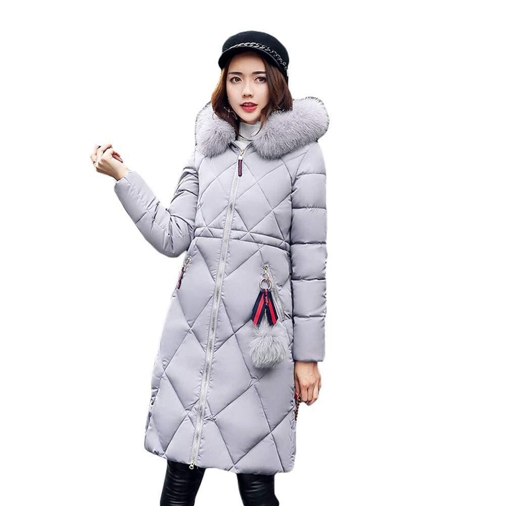 Meedot Femme Manteau Doudoune Parka Hiver Chaud Rembourr/ée Manches Longues Veste Jacket Coat Manteaux Long