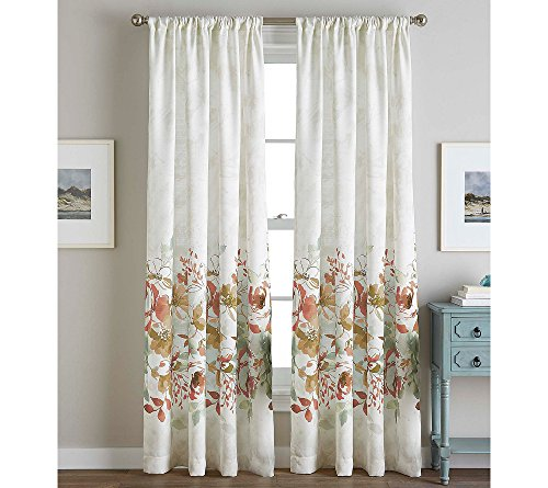CHF Watercolor Floral Curtain Panel, 84