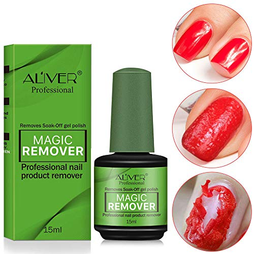 Professional Magic Nail Polish Remover Vinimay Removes Soak-Off Gel Nail Polish In 3-5 Minutes, Easily & Quickly, Don't Hurt Your Nails