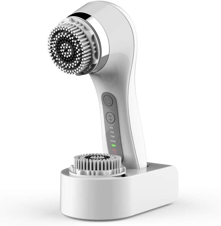Instrumento De Lavado Facial Artefacto Limpiador De Poros Limpieza Facial Eléctrico Lavadora De Cara Cepillo,White