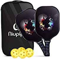 Pickleball Paddles, USAPA Pro Graphite Pickleball Paddle Set of 2 Pickleball Racquet 4 Pickleball Balls 1 Bag,...