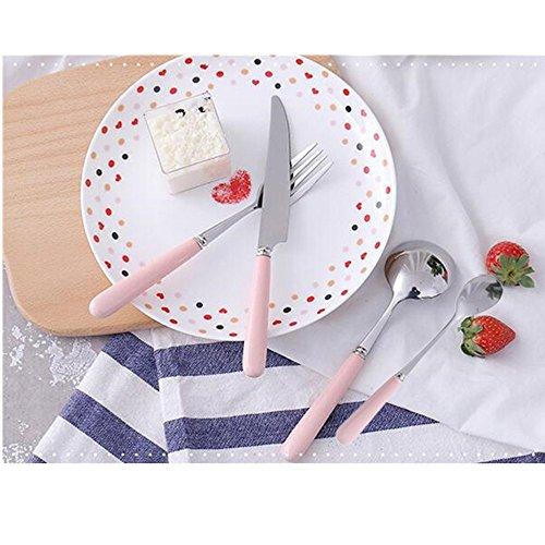 Gobuy Elegance Pink Stainless Steel Flatware Set Ceramics Handle 4 PCS - Of Outlet Stores Atlanta Shoppes