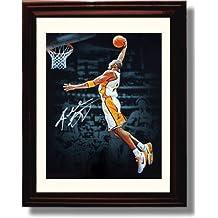 Framed Kobe Bryant Autograph Replica Print - LA Lakers