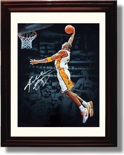 (Framed Kobe Bryant Autograph Replica Print - LA Lakers)