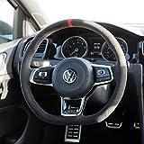 vw r steering wheel - Suede GTI Clubsport Steering Wheel Cover for VW Golf MK7 Scirocco Polo R GTI GLI 2013 + DSG models