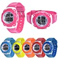 Han Shi Kids Watch Children Girls Digital LED Quartz Alarm Sports Wristwatch Christmas Clock