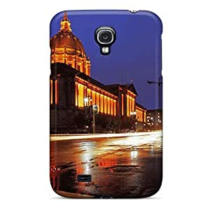 Galaxy S4 Case Cover - Slim Fit Tpu Protector Shock Absorbent Case (dejctr 22 City Night Color Refraction 1920x1646)