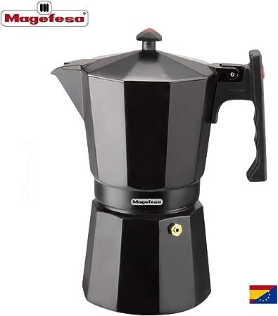 MAGEFESA Colombia – La cafetera MAGEFESA Colombia está Fabricada en Aluminio Extra Grueso. Pomo y Mangos ergonómicos de bakelita Toque Frio. (Negro, 6 Tazas): Amazon.es: Hogar