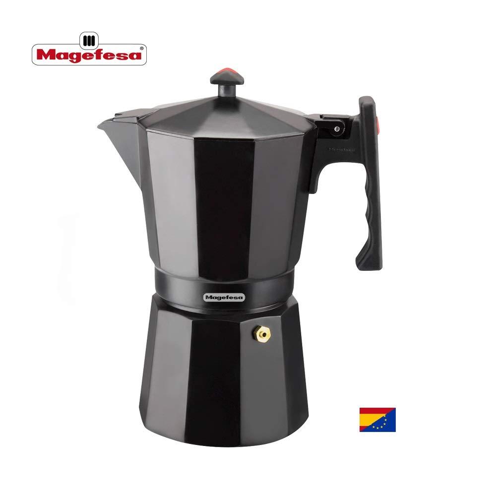 MAGEFESA Colombia – La cafetera MAGEFESA Colombia está Fabricada en Aluminio Extra Grueso. Pomo y Mangos ergonómicos de bakelita Toque Frio. (Negro, 9 ...