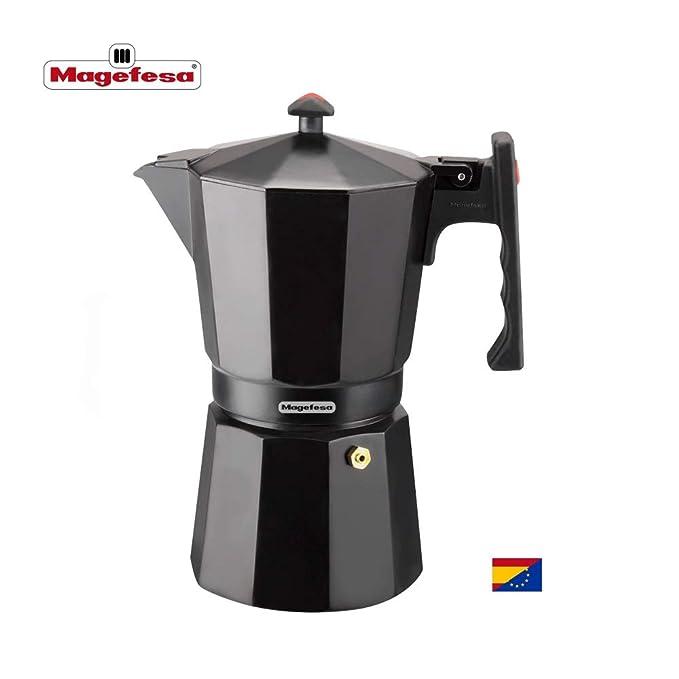 MAGEFESA Colombia – La cafetera MAGEFESA Colombia está Fabricada en Aluminio Extra Grueso. Pomo y Mangos ergonómicos de bakelita Toque Frio. (Negro, 6 ...