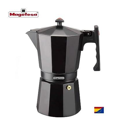 MAGEFESA Colombia – La cafetera MAGEFESA Colombia está Fabricada en Aluminio Extra Grueso. Pomo y Mangos ergonómicos de bakelita Toque Frio. (Negro, 3 ...