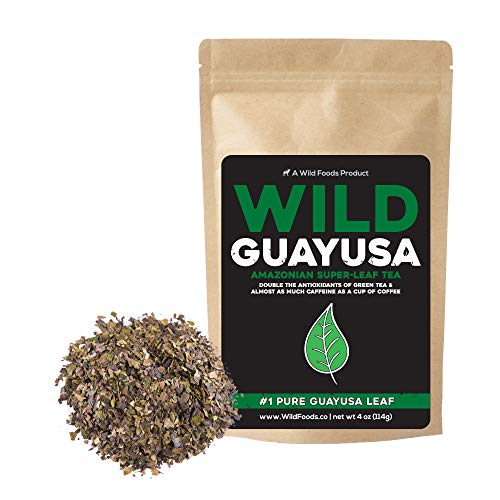 Guayusa Tea, Naturally Grown Pesticide-Free Loose Leaf Amazonian Tea by Wild Foods, Full of Antioxidants and Caffeine, Smooth flavor, Preserves Rainforest ( 8 ounce)