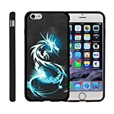Miniturtle [Apple iPhone 6 case, iPhone 6s Black Case][Snap Shell] 2 Piece Design Case, Perfect Fit Hard Rubberized Protector Cover - White Dragon