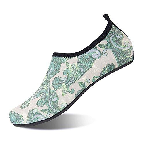 NING Men Shoes Shoes Socks Yoga Swim Green Dry for Water Women Barefoot Socks MENG Aqua Surf Quick Vine Beach qwraqSf