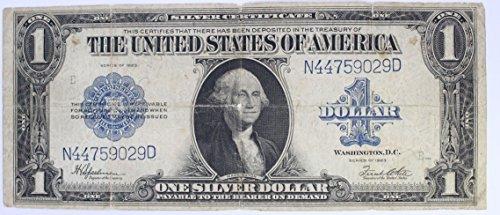 Large Silver Certificate - 1923 Large Silver Certificate 1 Blue Seal Horse Blanket #150