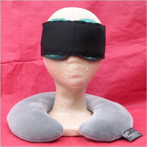 UPC 754175066520, Sleep Easy Kit includes Microwaveable Neck Pillow with Washable Cover and Eggplant Contoured Silk Eye Pillow and Adjustable Band by Relaxation in a Bag