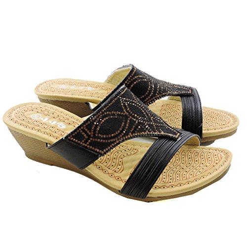 Fashionista Forever Sandales Confortables Sandales Noires