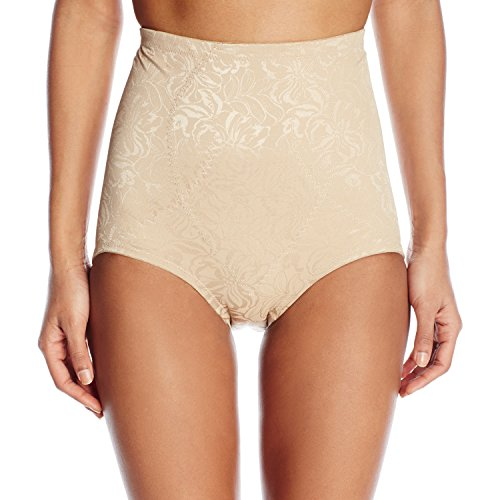 Flexees Women's Maidenform Shapewear Brief Firm Control, Body Beige, Large (Control Shapewear Womens Firm)