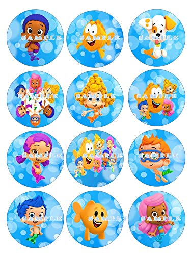 BUBBLE GUPPIES: edible cupcake topper birthday image decor frosting party decoration sheet premium -