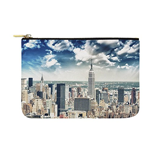 - Artsadd Unique Debora Customize Carry-All Pouch with Zippered Cosmetic Cases Makeup Bag Travel Gear for New York City Skyline and Skyscrapers