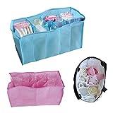 Alloet Portable Travel 7 Liners Diaper Nappy Organizer Stuffs Insert Storage Bag