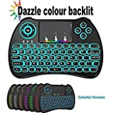 Ybee Mini 2.4Ghz Colorful Backlit Version Multi-function wireless mini keyboard with Touch Pad US layout air mouse remote controller For Pc, Pad, Xbox 360, Ps3, Htpc, Iptv, Raspberry Pi