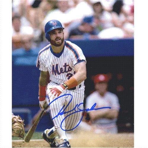 (Howard Johnson Autographed New York Mets (Pinstripe Jersey) 8x10 Photo)